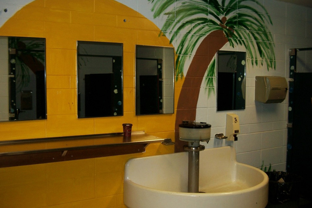 100 Ideas to Improve School Climate - bathroom decoration