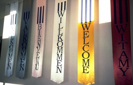 100 Ideas to Improve School Climate - multilingual WELCOME banners