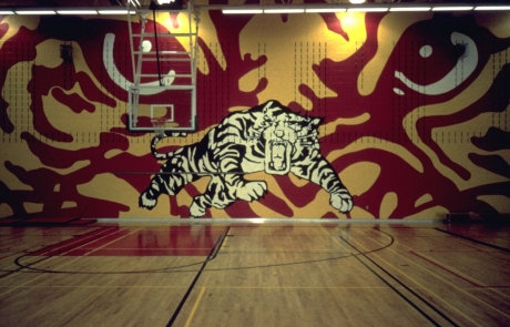 100 Ideas to Improve School Climate - gym mural
