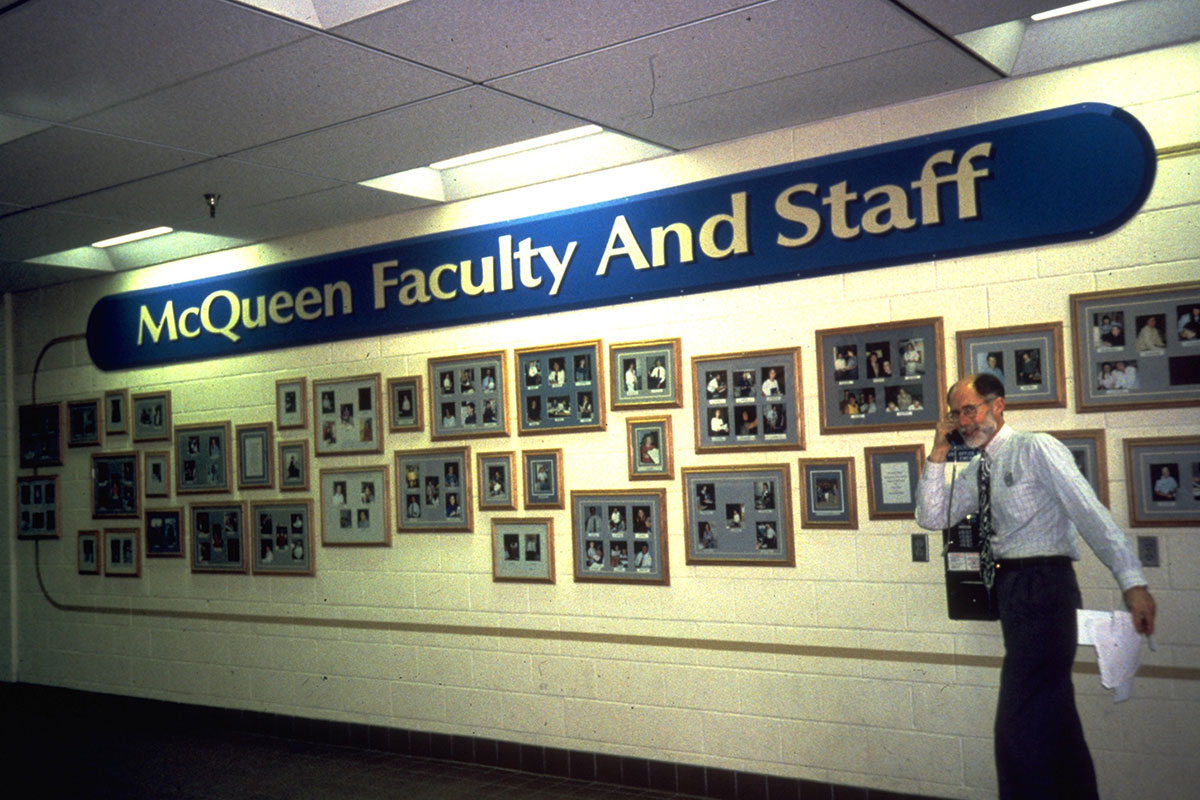 100 Ideas to Improve School Climate - wall photos of staff