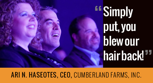 Simply put, you blew our hair back! - Read more CEO reviews of Mark Scharenbroich's keynotes